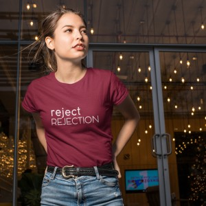 Koszulka, T-shirt, unisex, REJECT REJECTION, burgund