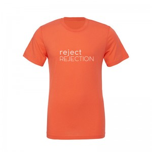Koszulka T-shirt, unisex, REJECT REJECTION, coral