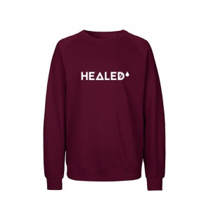 Bluza, unisex, HEALED, bordowa